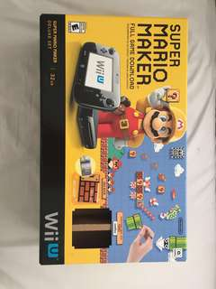 WII U full system, Super Mario Maker + MARIOKART8 including OTHER THINGS!!!