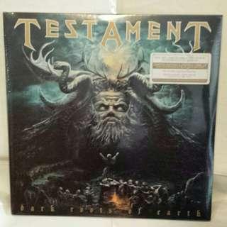 全新 Testament Dark roots of earth splatter vinyl 2 lp 黑膠唱片 not cd guitar esp metal slayer metallica live dvd blackstar dream