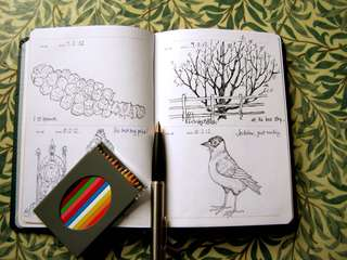 Sketch a day sketchbook diary or journal