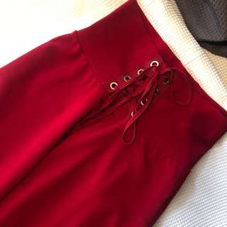 Red Culottes Pants