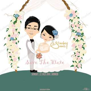 Customised Caricature Wedding Ecards