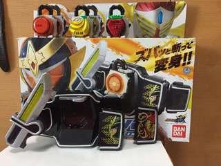 鎧武DX變身腰帶(連香橙及香蕉Lockseed) +草莓lockseed