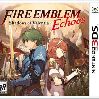 Fire emblem echoes: shadows of valentia (free postage)