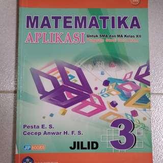 Buku Matematika Aplikasi Untuk SMA/MA kelas 12 IPA