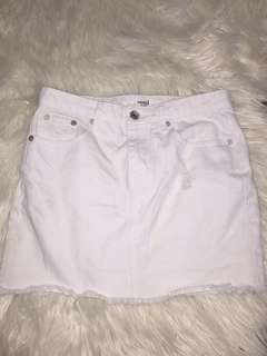 SEED WHITE DENIM SKIRT SIZE 6 , 8