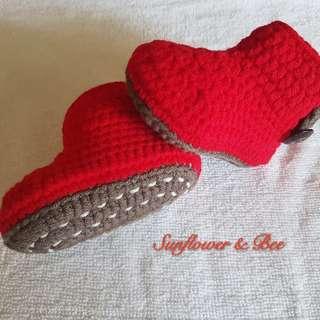 Baby booties. Handmade. Crochet. Baby newborn