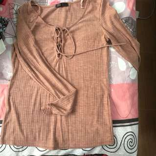 Shoelace Long sleeve top