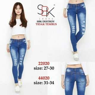 Celana jeans SBK 22020 DESTROY LAPIS