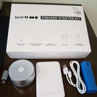 Tech M Bluetooth Speaker And 7000mah Slim Powerbank