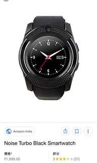 Noise Turbo Smartwatch (Black)