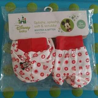 Bnip Disney baby booties & mitten (0+mths)
