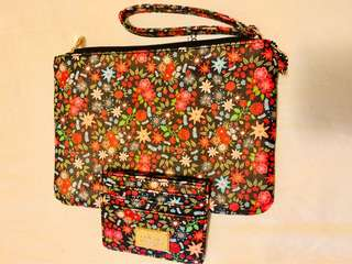 Floral clutch/ wristbag