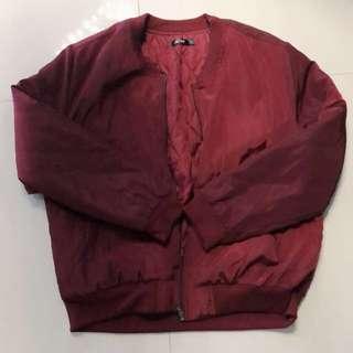 澳洲 棗紅酒紅色外套 bomber jacket ma1