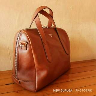 Fossil sidney satchel brown NWT