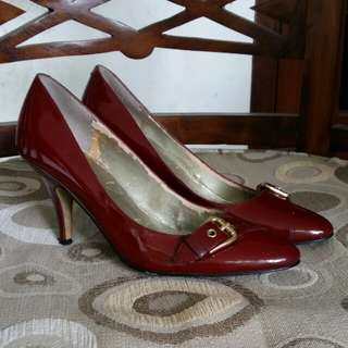 Guess Maroon High Heels Authentic