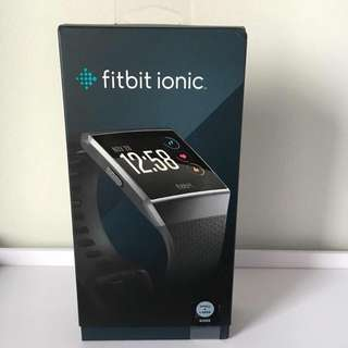 BNIB Sealed Fitbit ionic Charcoal smart watch