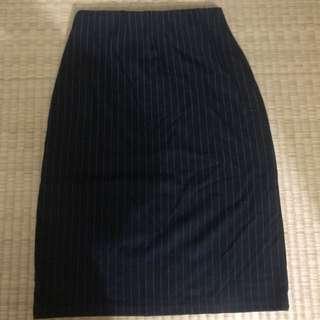 🚚 直紋棉質窄裙