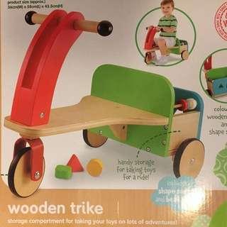 New- Wooden Bike - new in box