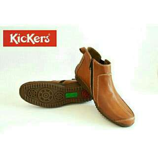Sepatu pria kickers zipper boots 003 kulit