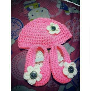Crochet Baby Bennie and shoes