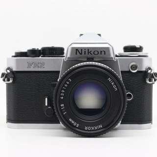 Nikon FE2 Body w/ Nikkor 50mm AIS 1.8 Lens
