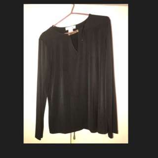 MK blouse with Gold Buckle