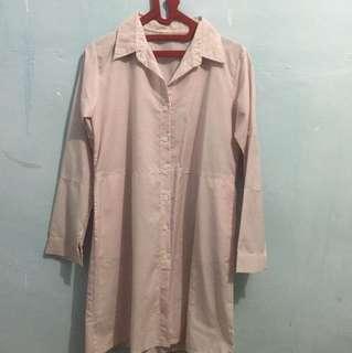 Tunik pink putih