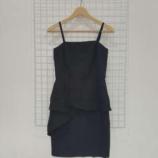 Nichii Black Peplum Dress