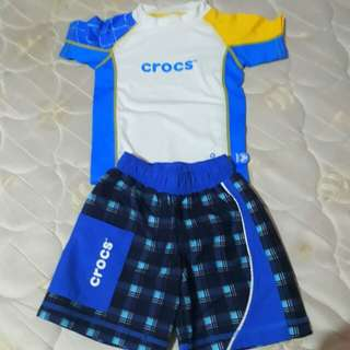 Crocs Rashguard & Swim shorts