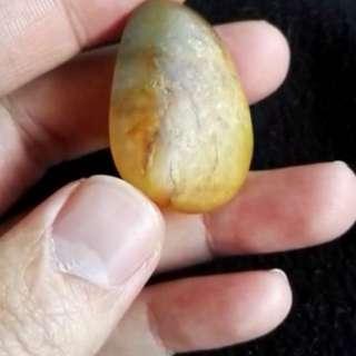 和田玉黄沁籽料