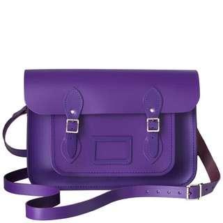 🚚 Cambridge satchel purple 英國劍橋包 葡萄紫 13吋 小包