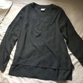 AFA Long Sleeve Blouse in Black