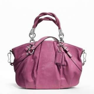 Authentic Coach Madison Pleated Leather Satchel