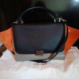 Celine Trapeze Tricolour bag