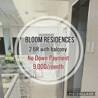 2BR unit with Balcony in Bloom Residences