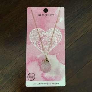 BN Lovisa Rose Quartz Necklace
