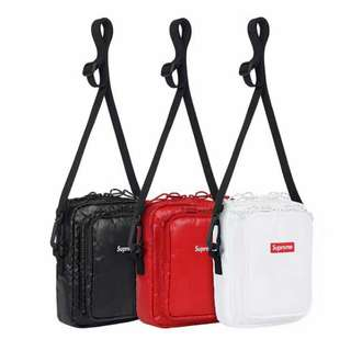 SS17 SUPREME SLING BAG BLACK/RED/WHIT