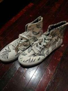 Vans white high cut sneakers