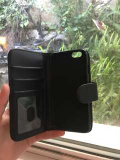 Black iPhone 6 case + wallet