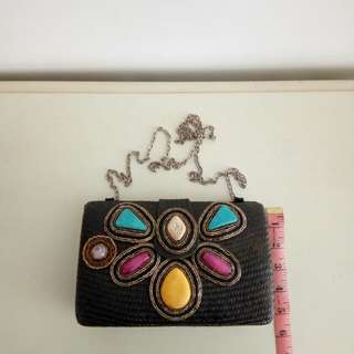 Sequins Clutch Bag with Chain Strap