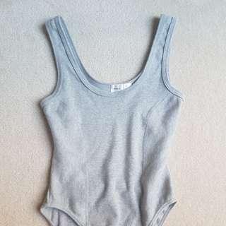 Grey Bodysuit, Size 4-6