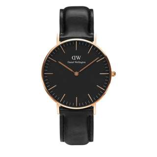 Daniel Wellington Classic Black Sheffield Watch 40mm 手錶連錶帶兩條
