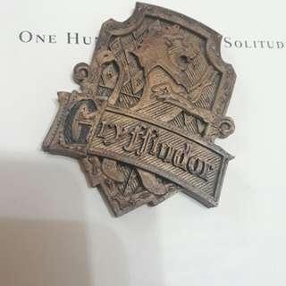 3D-printed Gryffindor badge