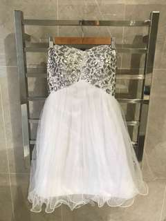 White Formal Dress - Size 8