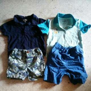 Boys Set blue shorts and shirts