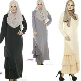 Jubah Dress Til 10XL ( po )