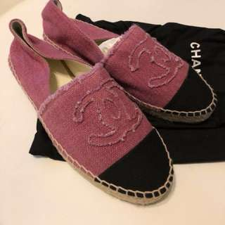 Chanel 草鞋 沙灘鞋  購自巴黎有單有塵袋100% NEW