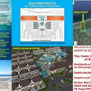 WANTED: REAL ESTATE AGENTS FOR COSTA PACIFICA RESIDENCES BALER AURORA
