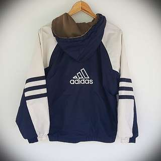 Vintage 90s Adidas Reversible Jacket Small