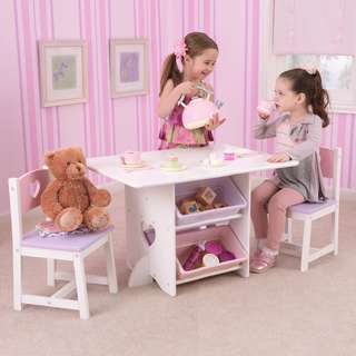 Wooden Heart Table and Chair Set